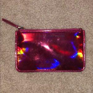 marc jacobs metallic pink wallet